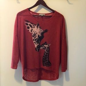 Moa Moa  giraffe 3/4 shirt